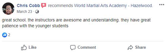 TEENSKIDS1, World Martial Arts Academy Hazelwood