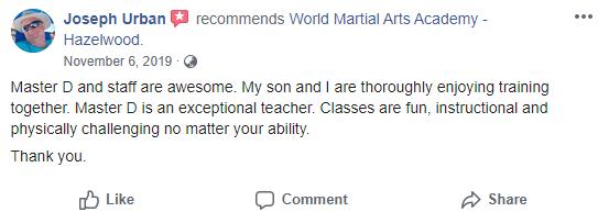Teen2Adult1, World Martial Arts Academy Hazelwood