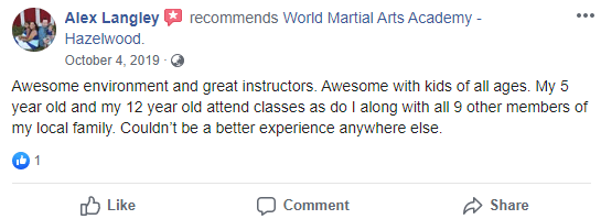 Teens3Adult2, World Martial Arts Academy Hazelwood