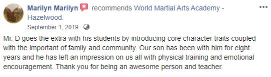 Teens4Adult3, World Martial Arts Academy Hazelwood